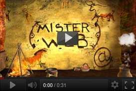 Sigla e linea grafica per Mister Web    La7 (2001) | produzioni tv  | Video Industriali | Filmati Aziendali | Giuseppe Galliano Multimedia Studio |